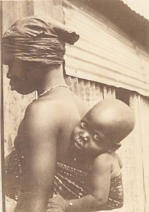 Niger Niamey Mother & Child Baby Old Snapshot Photo 1929