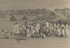 Madagascar Tananarive Market Street Scene Old Photo 1900