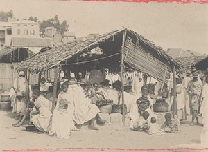 Madagascar Tananarive Street Market Scene Old Photo 1900