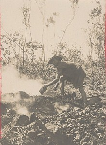 Madagascar Isalo District Charcoal Worker Old Photo 1900