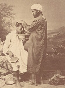 Arab Barber Tunisia Old Albumen Photo Fiorillo 1880