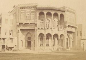 Egypt Cairo Validee Fountain Old Albumen Photo Fiorillo 1880