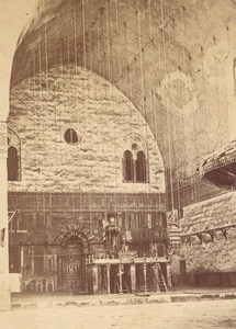 Egypt Cairo Mosque in Old Church Old Photo 1880