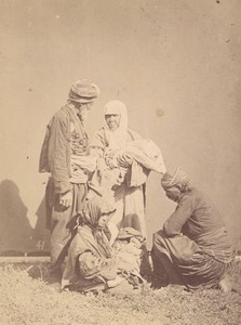 Turkey Peasant Group Old Albumen Photo 1880