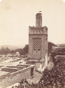 Morocco Mosque near Rabat Old Photo 1880