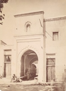 Morocco Tangier Tanger Moors Moorish Door Old Photo 1880