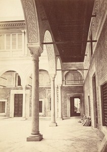Tunisia Tunis Moorish Court Moors Old Albumen Photo 1880