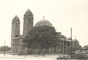 Senegal Dakar Cathedral Construction Old Photo 1935