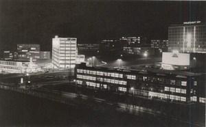 Czech Republic Prague by Night Old Photo 1950