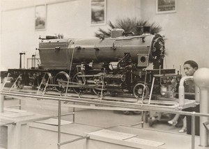 Paris Colonial Exhibition Railway Train Engine Old Photo 1931