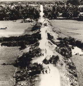 Vietnam War Binh Dinh Area Road RC1 French Aerial Photo 1950
