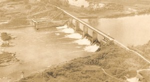 Vietnam War Tacoum Dam French Aerial Photo 1950