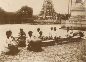 Cambodia King Royal Musicians Sisowath Old Photo 1930