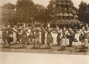 Cambodia King Royal Dancing Girls Sisowath Old Photo 1930
