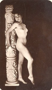 Woman Nude Risque France Real Photo Postcard 1950