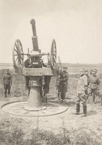 France Aviation Anti Aircraft Gun WWI Old Photo ca 1916