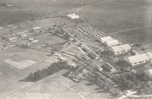 France Aviation Military Temporary Field Airport WWI Old Aerial Photo 1916