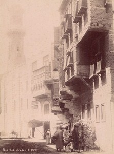 Egypt Cairo Bab el Vazir Street old Legekian Photo 1880