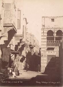 Egypt Cairo Souk Souq El Sila School Legekian Photo 1880