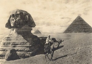 Egypt Sphinx Pyramids Lehnert & Landrock old Photo 1910