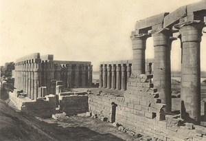 Egypt Luxor Temple Lehnert & Landrock Old Photo 1910
