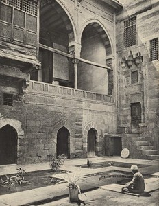 Cairo Camal Ed Din House Interior Lehnert & Landrock Old Photo 1910