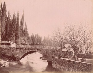 Turkey Izmir Smyrna Camel on Bridge old Rubellin Photo 1875