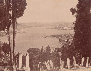 Turkey Istanbul Eyoub Golden Horn Old Berggren Photo 1880