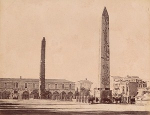Turkey Istanbul Theodose Obelisk Old Albumen Photo 1880
