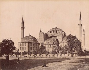 Turkey Istanbul Saint Sophie Mosque Old Albumen Photo 1880
