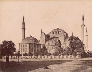 Turkey Istanbul Saint Sophie Mosque Old Albumen Photo 1880