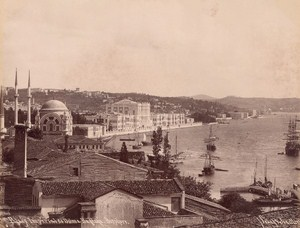 Turkey Istanbul Dolmabahçe Palace Sebah Joailleir old Albumen Photo 1880