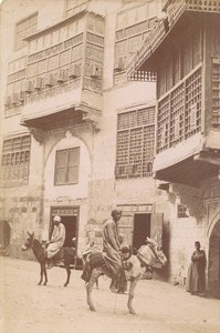 Egypt Cairo Arab House Muleteers Old Zangaki Photo 1880
