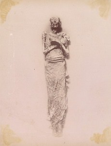 Egypt Cairo Ramesses Mummy Old Brugsch Photo 1880