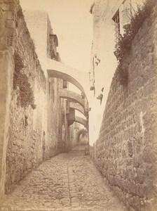 Israel Jerusalem Via Dolorosa Old Saboungi Albumen Photo 1890