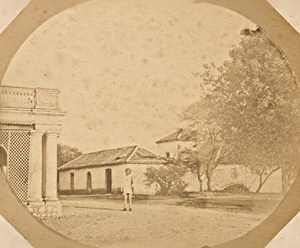 India Bombay English Officer House Old Photo ca 1865