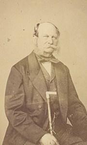 William I German Emperor Old Numa Blanc Photo CDV 1860