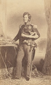 French King Louis Philippe Old Photo CDV Franck 1860