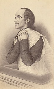 Wavier de Ravignan Jesuism Predicator France Old CDV 1860