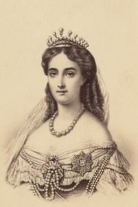 Olga Nikolaïevna de Russie Wurtemberg Queen Old Photo CDV 1860