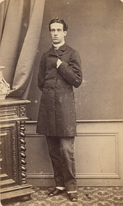 Man Clothes French Fashion Toulouse Old Photo CDV 1865