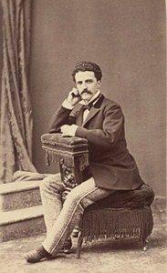 Man Clothes Spain Fashion Barcelone Old Photo CDV ca 1865