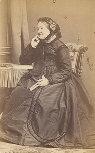 Woman Clothes French Fashion Toulouse Old Photo CDV 1865