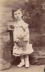 Baby Clothes French Fashion Paris Old Photo CDV 1875