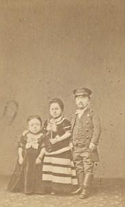 Lilliput Family Cocher France Old Photo CDV 1865
