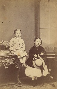 Children Clothes English Fashion Birmingham Old Photo CDV ca 1865