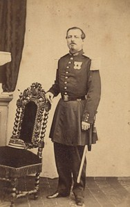 Toulouse Military Captain Medals Old Photo CDV 1860