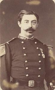 Paris Military Captain Legion d Honneur Medal Old Photo CDV 1870
