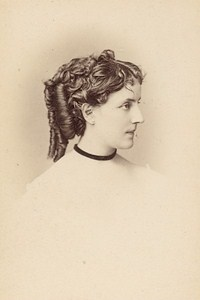 Miss Angelo French Actress Second Empire Old Photo CDV Reutlinger 1868