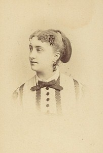 Miss Massin French Actress Second Empire Old Photo CDV Reutlinger 1868